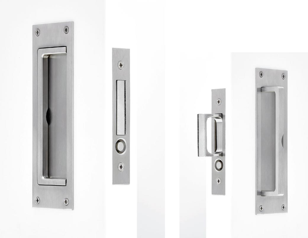 C-91-BHBH EDGE PULL WITH BLANK FLUSH PULLS WITH SWING OUT HANDLES