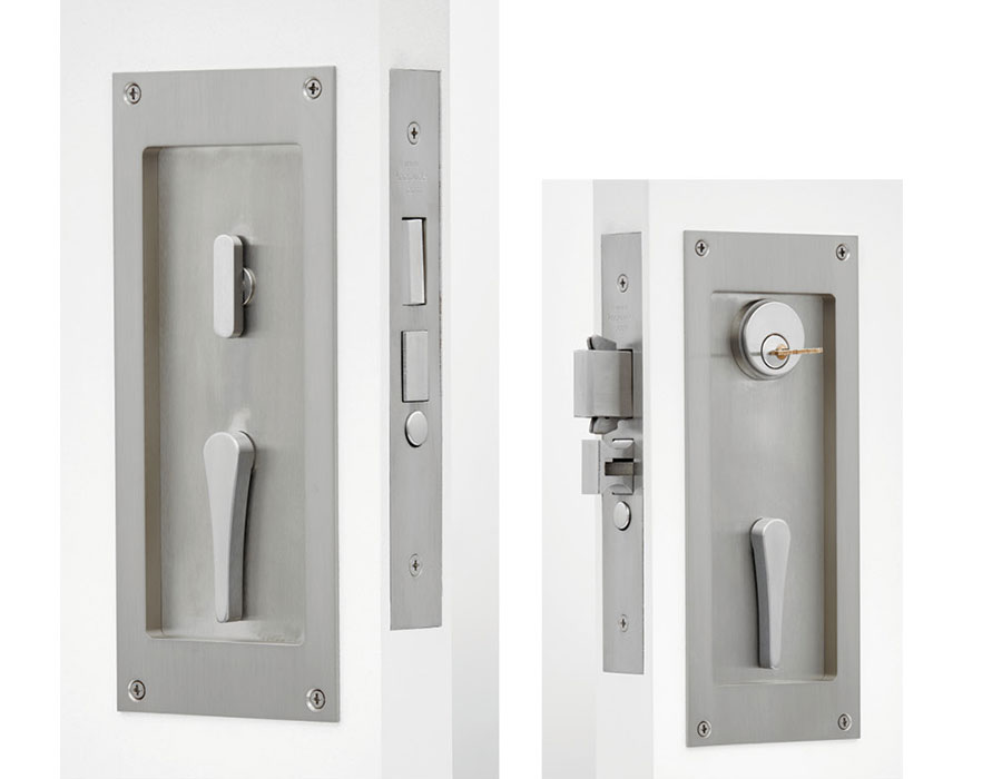 C-95SL-CT Self-Latching Flush Pull Cylinder & Handle Lever Lock Set