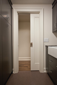 Pocket Door on Mudroom And Laundry Room Design Plans