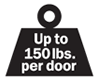 Weight for pocket door