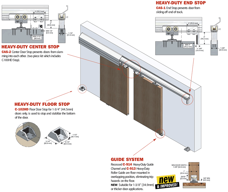 Sliding Door Track How To Hang Heavy Duty Doors