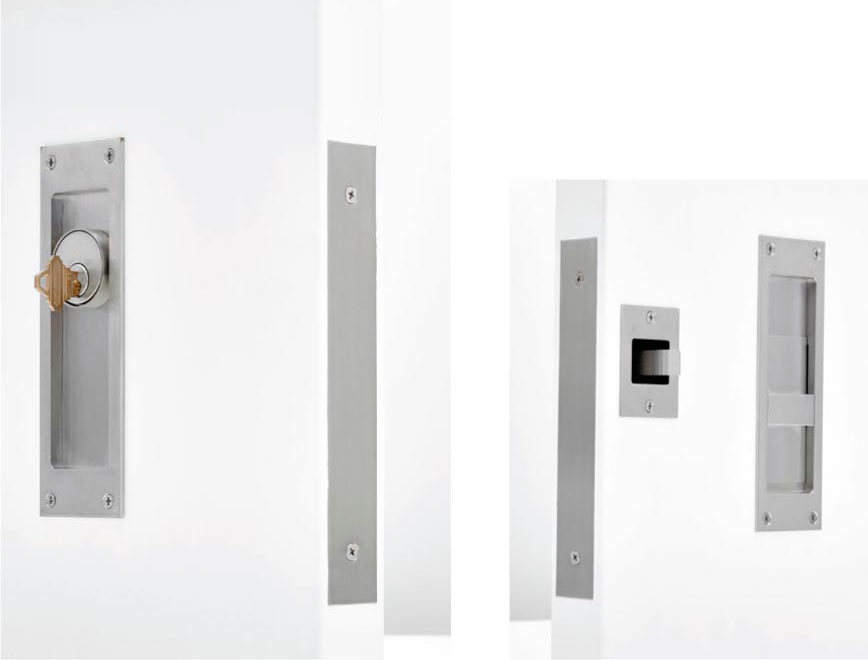C-94BL-CT BARN DOOR SECURITY LOCK SET