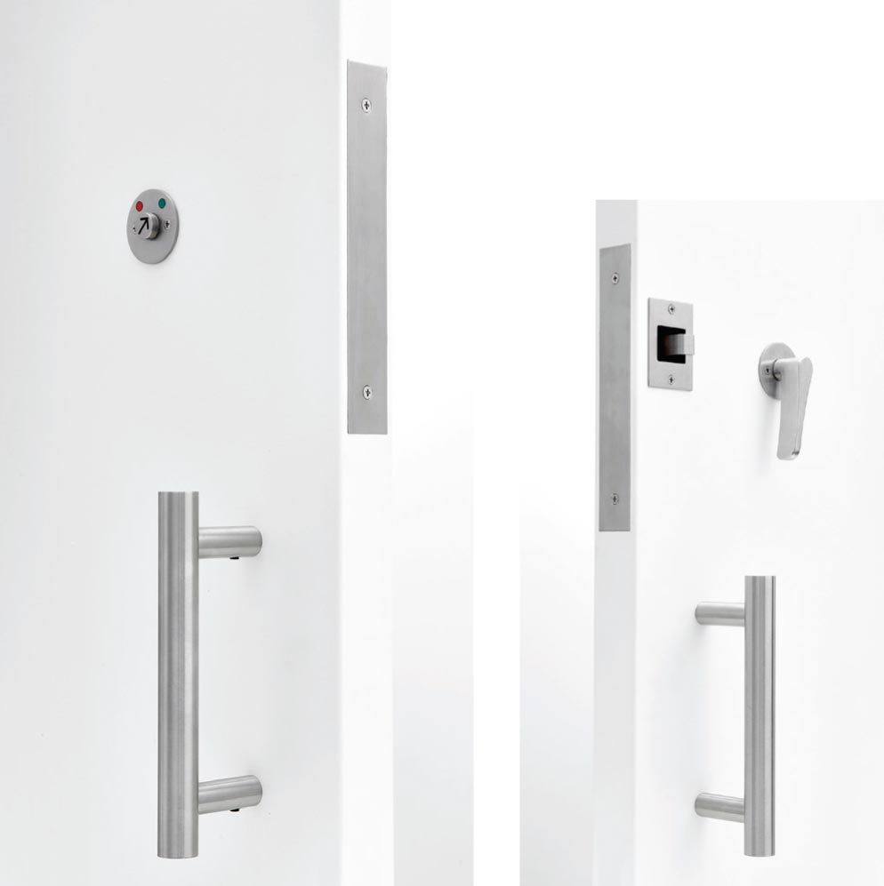 C-94BL-HLDP COMPLETE BARRIER FREE (ADA COMPLIANT) BARN DOOR LOCK SET